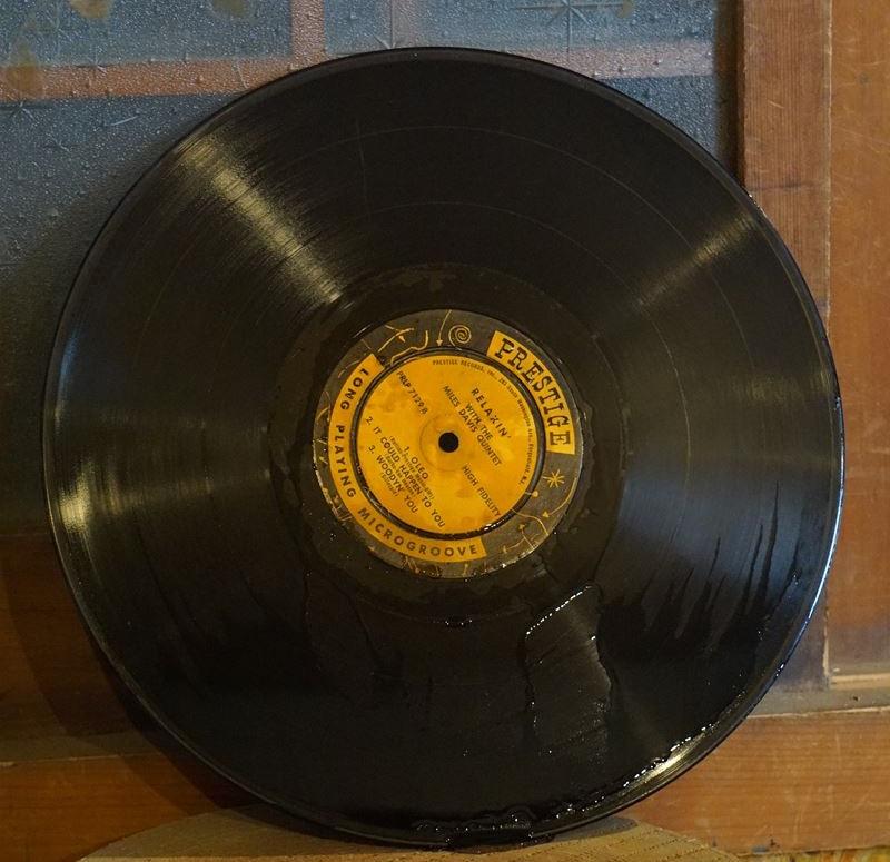 レコード乾燥
